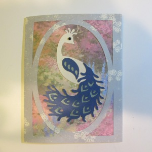 Cricut Diva Peacock Card 007