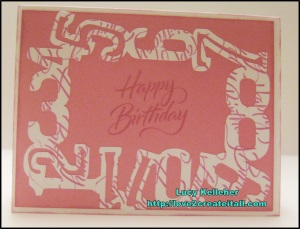 2013 - July 20 - Sentimental Saturday - Birthday Card - Front
