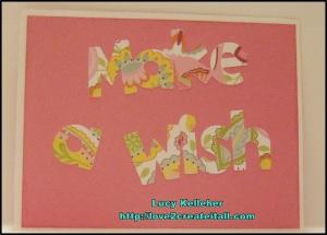 2013 - July 20 - Sentimental Saturday - Birthday Card - Inside 1