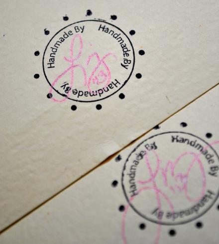 handmade by stamp